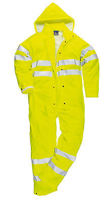 Hi-Vis Sealtex Ultra Waterproof Coverall Overall Breathable Concealed Hood S495