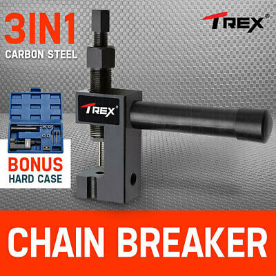 NEW T-REX Chain Breaker Tool 3in1 Riveter Presser Motorcycle BMX Bike Bicycle