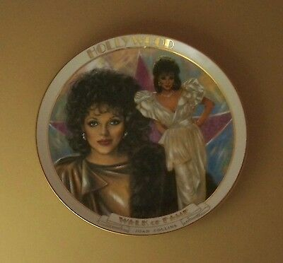 JOAN COLLINS Plate HOLLYWOOD WALK OF FAME Danbury Mint Movie Star Susie Morton