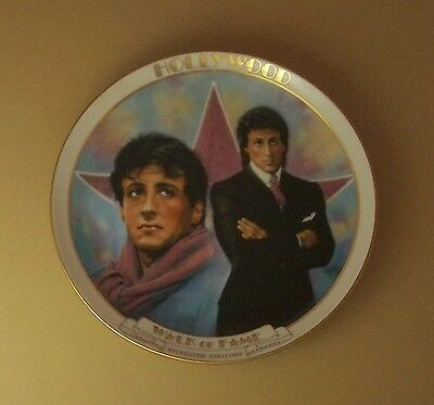 SYLVESTER STALLONE Plate HOLLYWOOD WALK OF FAME Danbury Mint Movie Susie Morton