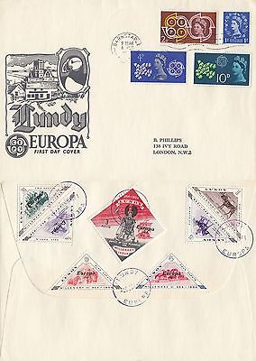 (49364) GB FDC Europa 1961 full set / Lundy Millenary