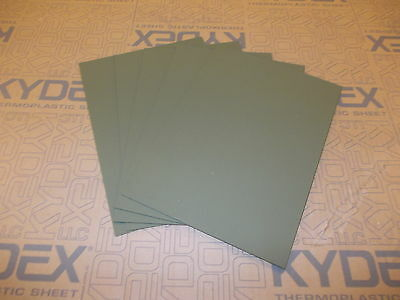 5 Pack A4 1.5 mm KYDEX T SHEET 297 X 210 (P-1 HAIRCELL OLIVE DRAB GREEN)