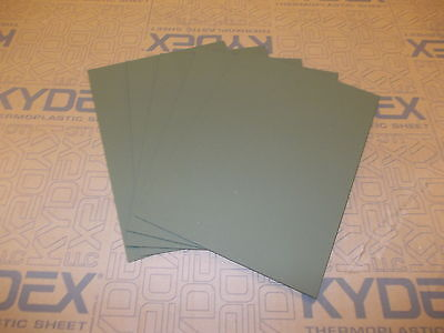 5 pieces KYDEX T SHEET 297 X 210 X 1.5MM A4 SIZE (P-1 HAIRCELL OLIVE DRAB GREEN)