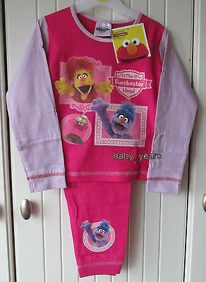 Girls Furchester Hotel Pyjamas Cotton Muppet Character Sleepwear Set Gift New