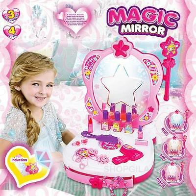 Girl Glamour Mirror Dressing Table W/ Magic Mirror, Light & Sound
