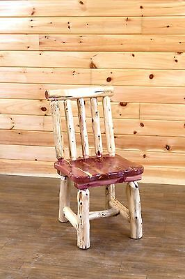 Rustic Red Cedar Log Dining Chair- Spindle Back  - Amish Made in USA