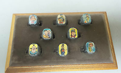 Complete Set/8 Nabisco Howdy Doody Flasher / Flicker Rings, Excellent Condition