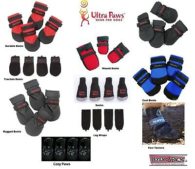 DOG BOOTS All Weather Durable ULTRA PAWS Water Repellent Rugged Traction Socks