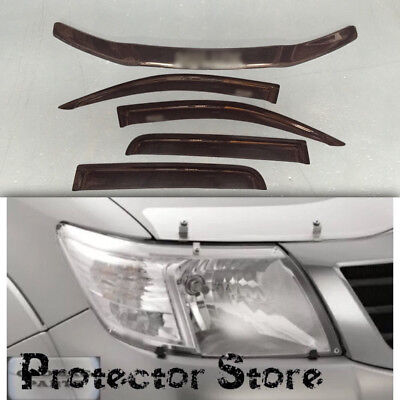 Toyota Hilux 2011-2015 Bonnet Protector, Weathershields & Light Covers