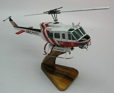 UH-1H Orange County Fire Helicopter Desktop Wood Model Free Shipping Regular New