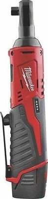 "New Milwaukee 2457-21 M12 Cordless 3/8"" Ratchet Kit With Battery Charger Case"