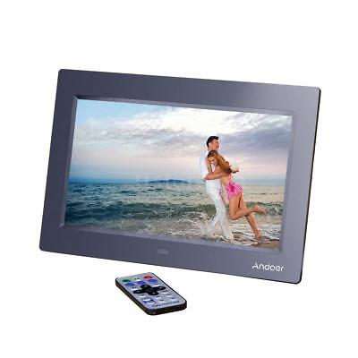 "10"" Full HD TFT-LCD Digital Photo Frame Picture Clock Film Player+Remote Contorl"