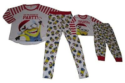 Ladies Or Girls/boys unisex Pyjamas Minions 2-13 Years Or Size 6-20