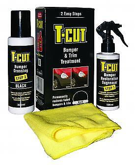 T-Cut Car Van Bumper Kit Black TBK001 Degreaser, Dressing, Cloths