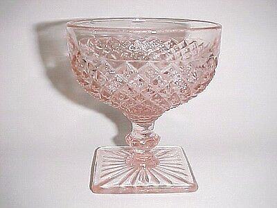 Vintage Pink Miss America Footed Sherbets / OLD Guaranteed / 6 Available