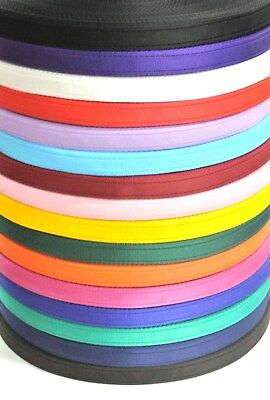 20mm Cushion Webbing 16 Colours Straps Dog Leads Collars x2 x5 x10 x25 50 Metres
