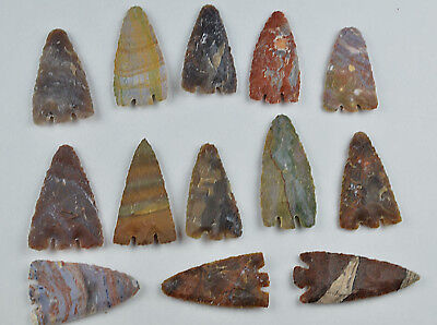 "**One 3"" Avg Flint Spearpoint Arrowhead Project Point Spear Knife Blade Lot CC**"
