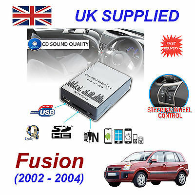 Ford FUSION MP3 SD USB CD AUX Input Audio Adapter Digital CD Changer Module 2-04
