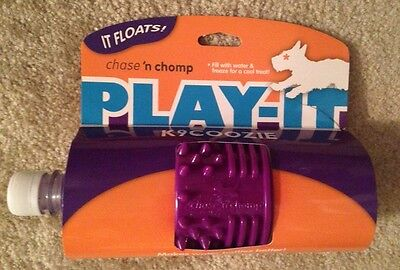 NWT K9 Coozie Freezable Floating Dog Pet Water Bottle Toy Purple