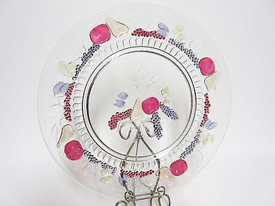 Della Robia Dinner Plate / VHTF / Great Color / Westmoreland Glass Co