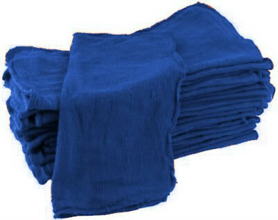 """500 premium mechanics rags cleaning towels ford blue 15""""x15"""" commercial grade"""