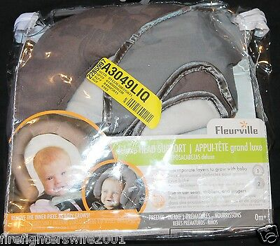 Fleurville Newborn to Infant Head Support adjustable gray 0+ months