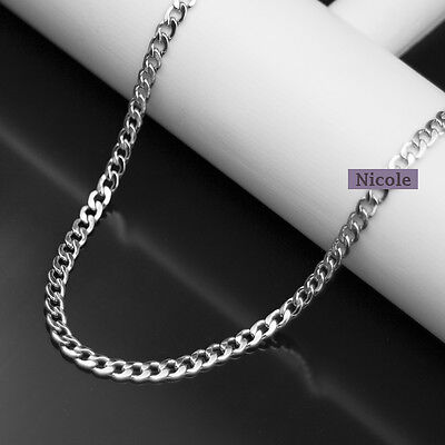 Super Cool Fashion Men Titanium Stainless Steel 316L 5mm NK Chain Necklace NSS12
