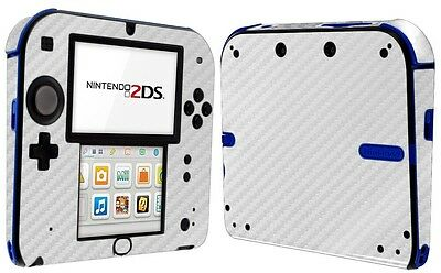 Skinomi Silver Carbon Fiber Skin+Clear Screen Protector For Nintendo 2DS