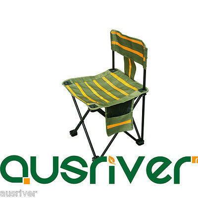 Portable Fishing Outdoor Camping Chair Small Seat Folding Cloth Stool StorageBag