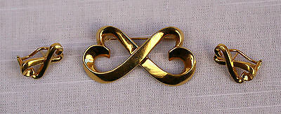 Magnificent Tiffany & Co 18K Gold 3P Pair Of Earring And Brooch By P. Picasso