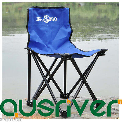 Fishing Outdoor Camping Chair Seat Folding Cloth Portable Stool with Backrest