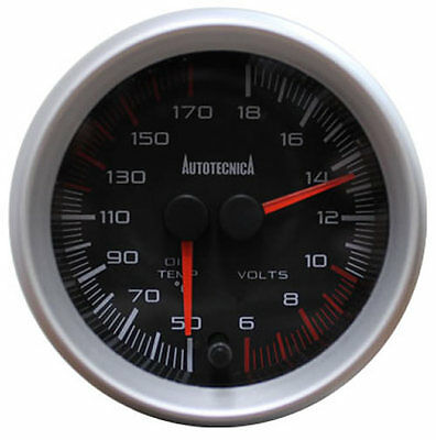 Autotecnica Dual Oil Temp + Volt  Pressure Gauge 60mm 4WD 4x4 NEW