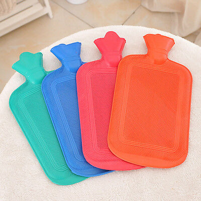 Rubber Hot Water Bottle Bag Winter Warmer Relaxing Heat Cold Therapy