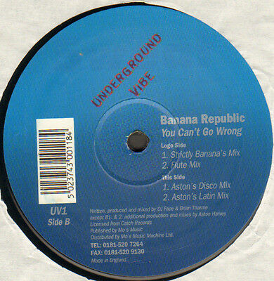 Banana Republic - You Can'T Go Wrong - Underground Vibe