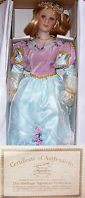 """Heritage Signature Collection Fairy Tale Princess 18"""" Porcelain Doll New In Box"""