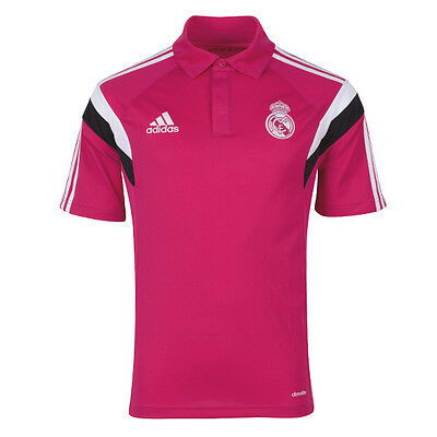 Authentic Adidas Men's Real Madrid ClimaLite Polo Shirt 2014/15 (SB80)
