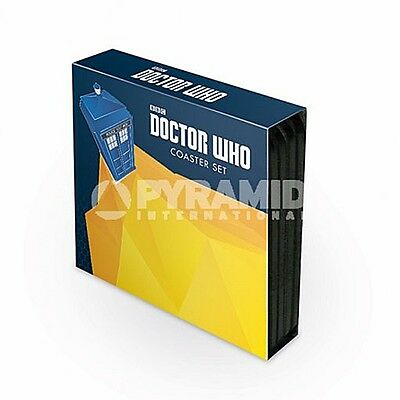 Doctor Who set of 4 cork backed drinks coasters (py)