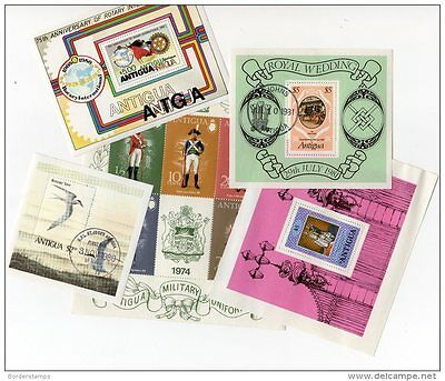 ANTIGUA Collection of mini sheets Mint MNH