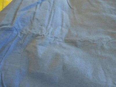 BULK 50 yds flannel single nap 100% cotton fabric interlining bluegray FREE SHIP