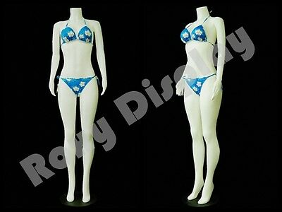 Female Plastic Unbreakable Mannequin Display Dress Form Display #PS-957-04W