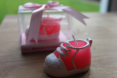Pink Shoe Boot Candle  - Christening Party / Baby Shower Baby Girl Gift