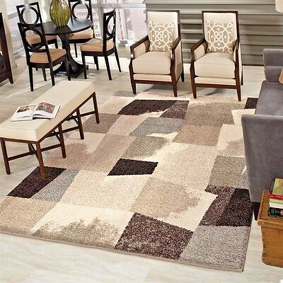 RUGS AREA RUGS CARPETS 8x10 RUG LARGE COOL BEDROOM GREY MODERN PLUSH GRAY  RUGS ~