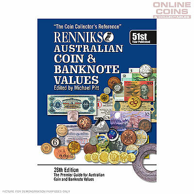 Renniks Australian Coin & Banknote Values 26th Edition Soft Cover NEW EDITION!!