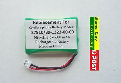 1x Ni-MH 600mAh 3.6V Generic Replacement Battery for Model 27910 89-1323-00-00
