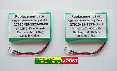 2x Ni-MH 600mAh 3.6V Generic Replacement Battery for Model 27910 89-1323-00-00