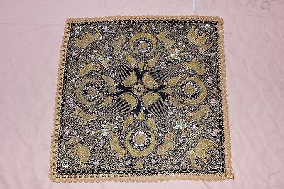 Antique Old Perfect Asian  Handmade Sim And Silk Mixed Textile