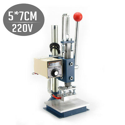 NEW Hot Foil Stamping Machine Manual Marking Leather Printing Embossing Printer