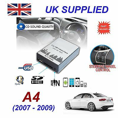 AUDI A4 2007-09 MP3 SD USB CD AUX Input Audio Adapter Digital CD Changer Module
