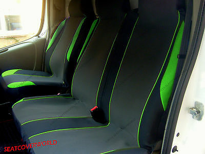 Ford Transit - Green Motorsport Van Seat Covers - Single + Double