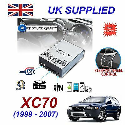 For VOLVO XC70 MP3 SD USB CD AUX Input Audio Digital CD Changer Module 99-07 HU